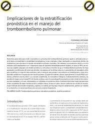 Implicaciones de la estratificacion pronostica en el manejo del ...