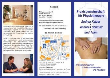 Praxisgemeinschaft für Physiotherapie Andrea Katzer und Team ...
