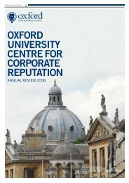 OxfOrd University Centre fOr COrPOrAte rePUtAtiOn - Said Business ...