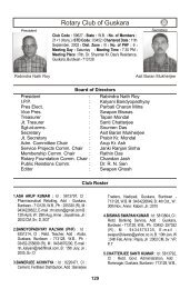 Club Roster G-N - Rotary District 3240