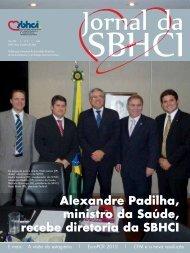 Alexandre Padilha, ministro da Saúde, recebe diretoria da SBHCI ...