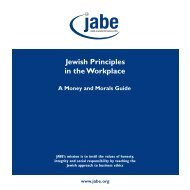 Jewish Principles in the Workplace - SCoJeC