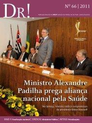 Ministro Alexandre Padilha prega aliança nacional pela ... - Simesp
