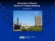 presentation-UIC Welcome.pdf - The University of Illinois Board of ...