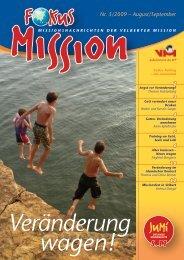 Nr. 5/2009 – August/September - bei der Velberter Mission