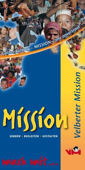 PDF-Flyer zum Download - bei der Velberter Mission