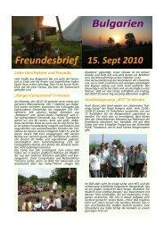Freundesbrief Bulgarien - bei der Velberter Mission