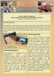 Letzter Rundbrief Halstenberg 9/2012 - bei der Velberter Mission