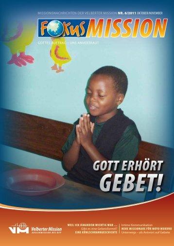 Gott erhört - bei der Velberter Mission
