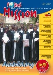 NR. 4/2007 - bei der Velberter Mission