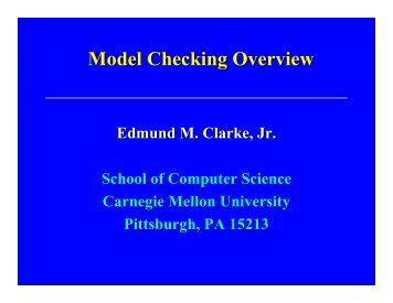 Model Checking Overview [Read-Only] - Faculty of Computer Science