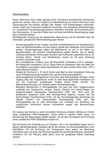 Dachausbau - VG Mering