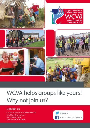 WCVA helps groups like yours! Why not join us?