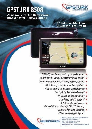 gpsturk 8508 navigasyon cihazı