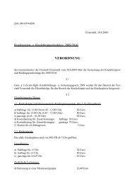 Kindergarten- und Kinderkrippenbeiträge 09/10 - Eisenstadt