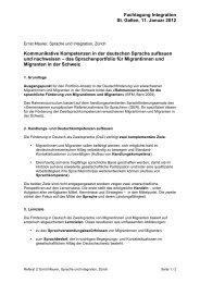 Zusammenfassung Referat Ernst Maurer (57 kB, PDF) - Integration
