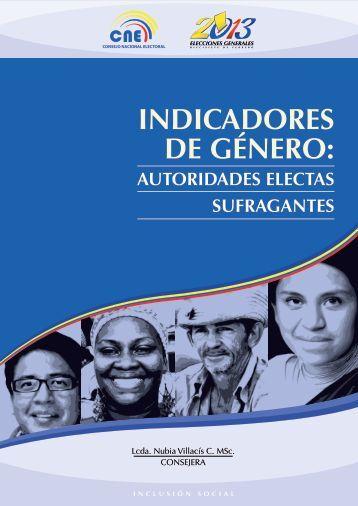 INDICADORES DE GÉNERO: