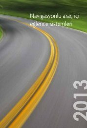 TOYOTA 3G hızında navigasyonlu araç içi eğlence sistemleri