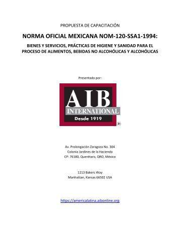 NORMA OFICIAL MEXICANA NOM-120-SSA1-1994: