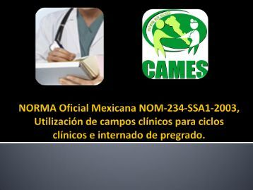 NORMA Oficial Mexicana NOM-234-SSA1-2003 - Comisión de ...