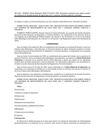 08-12-94 NORMA Oficial Mexicana NOM 012-SSA1-1993 ...