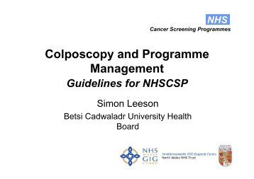 Colposcopy and Programme Management - Cytology Training Centre