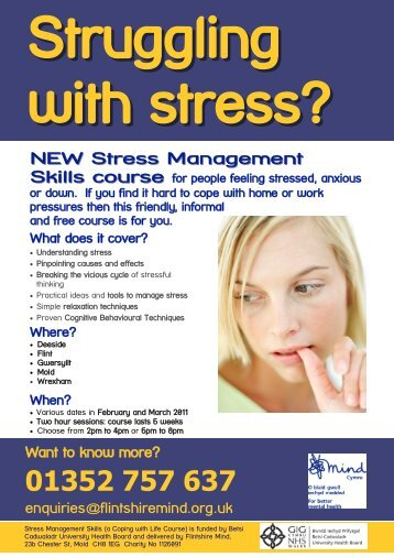 NEW Stress Management Skills course - Flintshire Mind