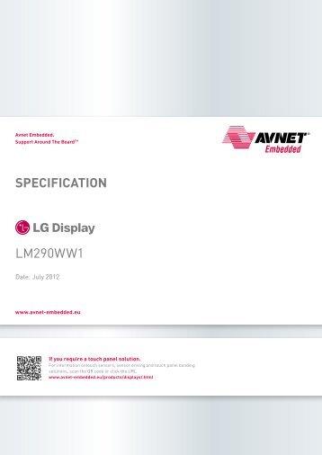LG Display LM290WW1-SSA1 - Avnet Embedded