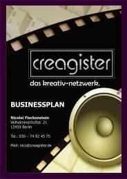 Business-Plan - CREAGISTER