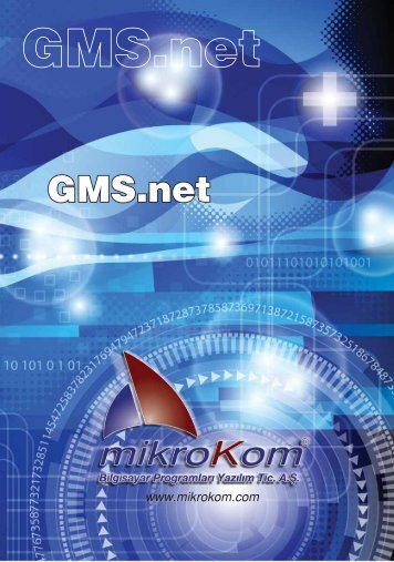 GMS.NET Yazılımı'nın tanıtım broşürünü indirmek için bu bağlantıyı ...