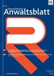 Anwaltsblatt 2009/06 - Österreichischer Rechtsanwaltskammertag
