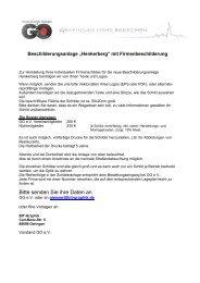 Beauftragung Firmenschild-Anlage am ... - Gewerbeverein-Owingen