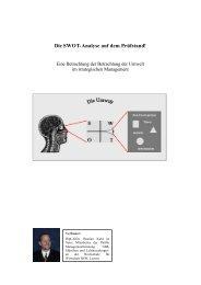 Die SWOT-Analyse auf dem Prüfstand! - Org-Portal.org
