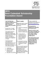 2013 Betsi Cadwaladr Scholarship Foundation Award - RCN