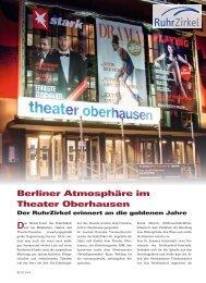 TOP MAGAZIN RUHR, Ausgabe 4, Winter 2011 ... - zum Ruhrzirkel…