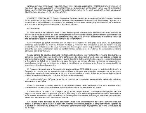 NOM-023-SSA1-1994 - Secretaría de Medio Ambiente