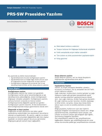 PRS‑SW Praesideo Yazılımı - Bosch Security Systems
