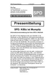 KiBiz ist Mumpitz - Die SPD im Kreis Mettmann