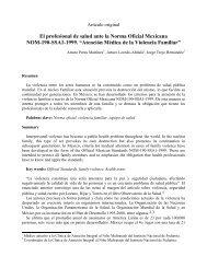 El profesional de salud ante la Norma Oficial Mexicana NOM-190 ...