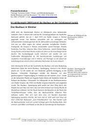 Das Bauhaus in Weimar - Thüringen Tourismus