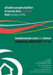 Denbighshire Care & Repair Annual Report 2011/12