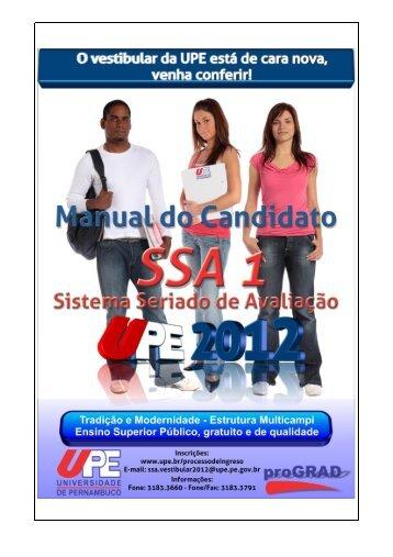 Manual do SSA 1 - UPE