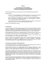 Satzung über die Erhebung von Elternbeiträgen für die ... - Wülfrath