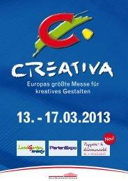 Informationsprospekt für Aussteller CREATIVA 2013, PDF