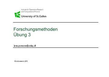 Forschungsmethoden Übung 3 - W4B