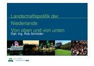 Aktuelle Aspekte der Landschaftspolitik in den Niederlanden