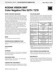 KODAK VISION 500T Color Negative Film 5279 / 7279