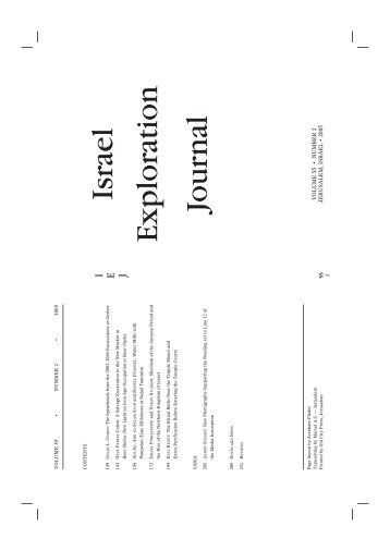 Vol. 55/2 - Israel Exploration Society