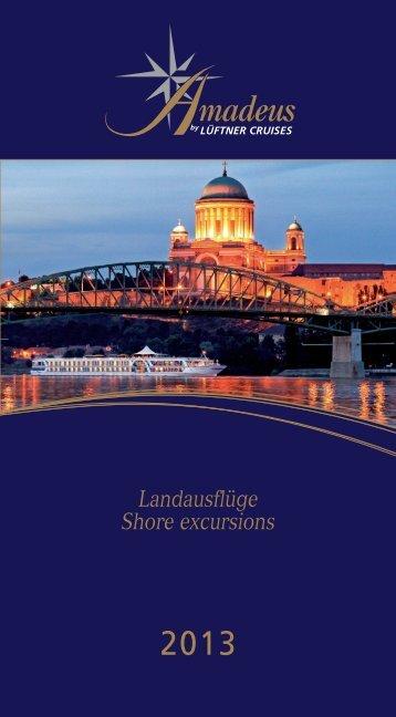 detaillierte Beschreibung aller Landprogramme - Lüftner Cruises