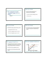 The Aggregate Demand- Aggregate Supply (AD-AS) Model